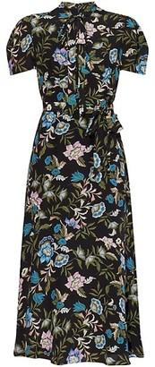 Erdem Elmer Silk Floral Midi Dress