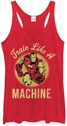 Fifth Sun Women's Tank Tops RED - Red Iron Man 'Train Like A Machine' Racerback - Juniors