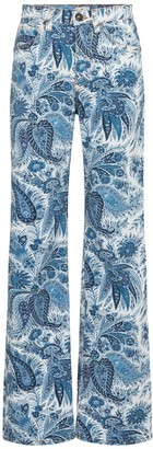 Etro Paisley high-rise straight jeans