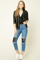 Forever 21 FOREVER 21+ Distressed Boyfriend Jeans