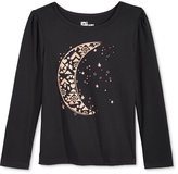 Epic Threads Little Girls' Moon Graphic-Print Long-Sleeve T-Shirt, Only at Macy's