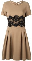 P.A.R.O.S.H. lace panel flared dress