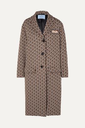 Prada Jacquard-knit Coat - Brown
