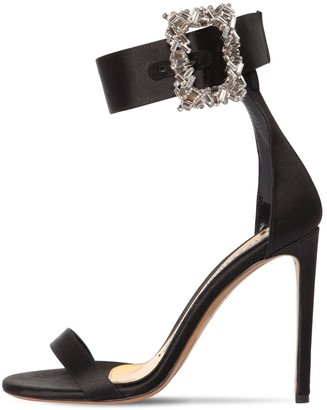 Alexandre Vauthier 100mm Blanca Embellished Satin Sandals