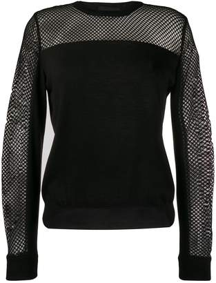 Moschino mesh detail top