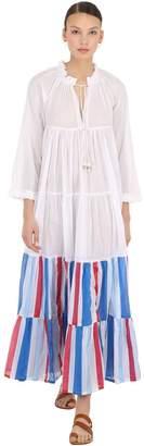 Yvonne S Striped Cotton Maxi Hippy Dress