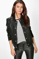 Boohoo Jenny Faux Leather Bomber Jacket