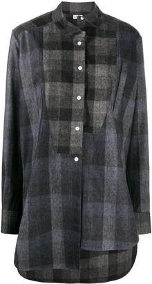 Loewe Oversized Asymmetric Checkered Shirt