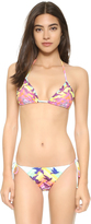 Mara Hoffman Prismatic String Tie Bikini Top