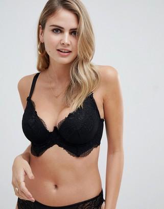 Asos DESIGN Fuller Bust Kate lace longline padded underwire bra