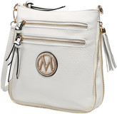 Mkf Collection By Mia K. MKF Collection by Mia K. Women's Handbags - White Expandable Tassel-Accent Crossbody Bag