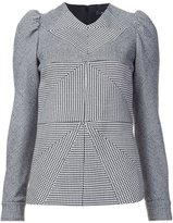 Derek Lam contrast panel patterned blouse