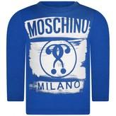 Moschino Boys Blue Milano Print Top