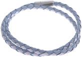 Tateossian Schoubidou Silver & Leather Wrap Bracelet