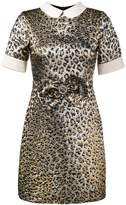 Gucci leopard jacquard lame dress