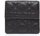 Christian Dior Black Canvas Bifold Wallet