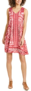 Style&Co. Style & Co Plus Size Printed Sleeveless Swing Dress, Created for Macy's