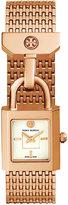 Tory Burch Women's Swiss Surrey Rose Gold-Tone Stainless Steel Bracelet Watch 20x21mm TRB7102