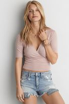 American Eagle Outfitters AE Keyhole Wrap T-Shirt
