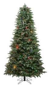 Northlight Pre-Lit Medium Frosted Dunton Spruce Artificial Christmas Tree