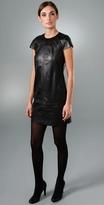 Leather Shift Dress