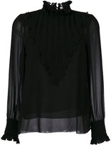 See by Chloe high neck plisse pleated top