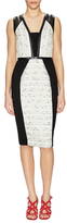 Rachel Roy Tweed Sheath Dress with Faux Leather Trim