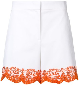Emilio Pucci White Sangallo Embroidered Shorts