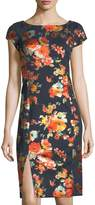 Label by 5Twelve Foil-Printed Midi Sheath Dress