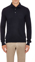 Barneys New York MEN'S LONG-SLEEVE POLO SHIRT