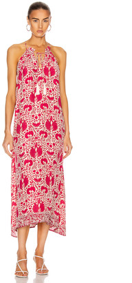 Natalie Martin Marlien Maxi Dress in Wing Print Bougainvillea Pink   FWRD