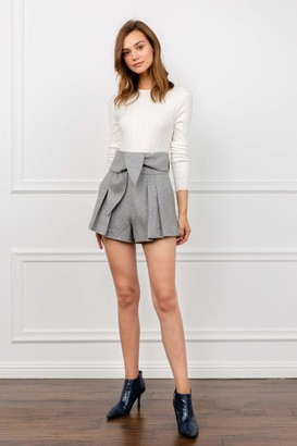 J.ING Suzy Grey Pleated Shorts