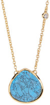 Cole Haan Turquoise Teardrop Pendant Necklace