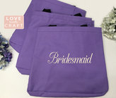 Etsy Set of 11 - Bridesmaid Gifts, Monogrammed Totes, Personalized Gift Tote Bags, Bridal Party Gifts, So
