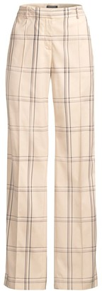 Lafayette 148 New York Winthrop Plaid Trousers