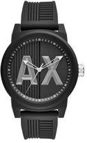 Armani Exchange ATLC Analog Black Dial Silicone-Strap Watch