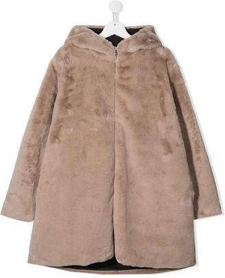 Douuod Kids TEEN zipped hooded coat