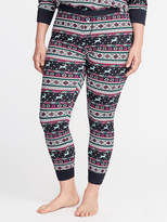 Old Navy Patterned Plus-Size Thermal Leggings