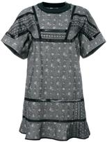 Sacai aloha chambray dress - women - Cotton/Cupro - 3