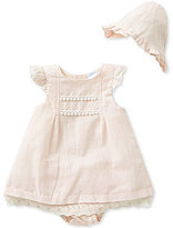 Edgehill Collection Baby Girls Newborn-6 Months Dress, Panty, and Bonnet Set