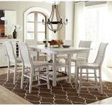 Progressive Furniture Willow Rectangular Counter Height Dining Table in Distressed White