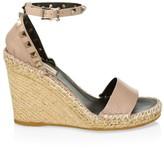 Valentino Garavani Rockstud Leather Espadrille Wedge Sandals