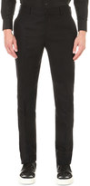 Alexander McQueen Regular-fit mid-rise wool trousers