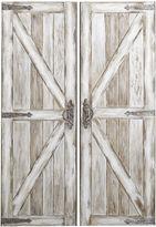 Pier 1 Imports Antique White Rustic Barn Doors Art