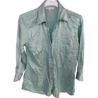Gerard Darel Turquoise Silk Top for Women