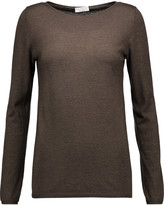 Brunello Cucinelli Metallic cashmere-blend top