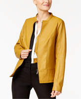Alfani Faux-Leather Moto Jacket, Created for Macy's