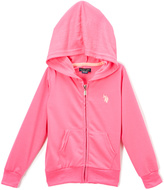 U.S. Polo Assn. Neon Pink Zip-Up Hoodie - Girls