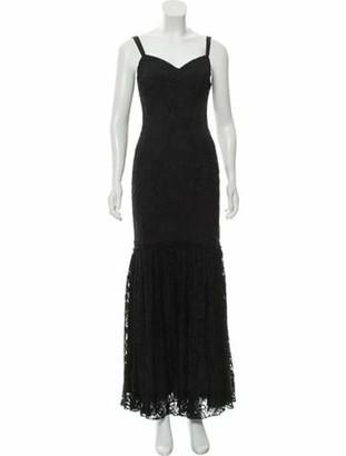 Dolce & Gabbana Lace Evening Dress Black
