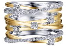 Lafonn Simulated Diamond Crisscross Ribbon Ring